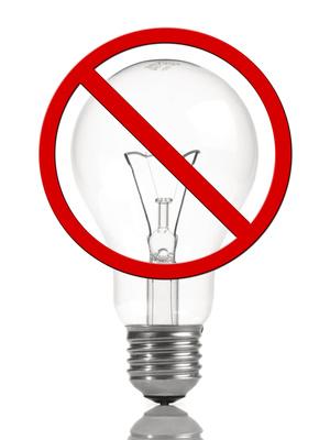 Glühbirne Verboten